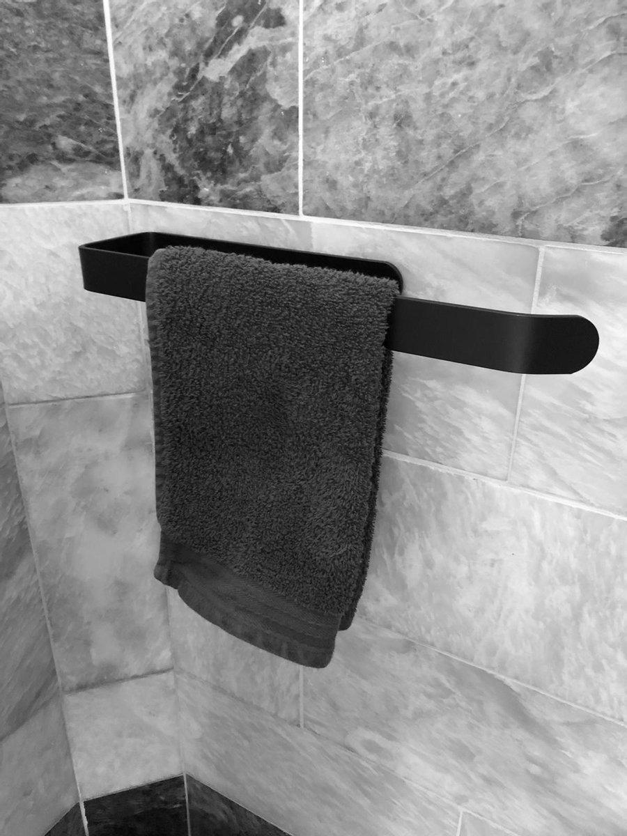 Handdoekhouder | Zelfklevend handdoekrek | Handdoekrek zwart | Handdoekrek badkamer | Handdoekstang |Gastendoekhouder | Handdoekhouders | Badkameraccesoires | Vaatdoekhouder