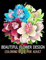 Beautiful Flower Design Coloring Book for Adult
