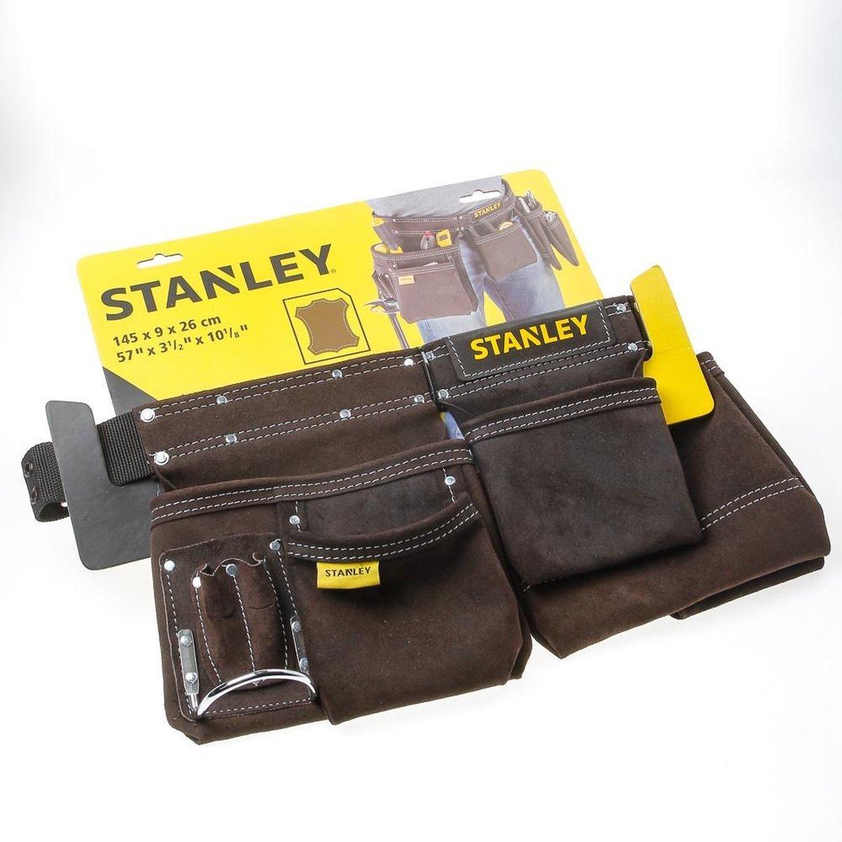 STANLEY STST1-80113 Dubbele Gereedschapsgordel - leder - met regelbare riem