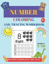 Number Coloring and Tracing Workbook