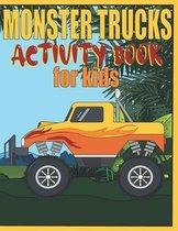 Monster Trucks Activity Book For Kids