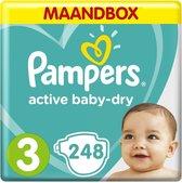 Pampers Active Baby Dry - Maat 3 - Maandbox - 248 luiers