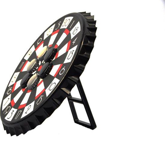 Afbeelding van het spel  Bierdop Dartspel  Magnetisch Flessendoppendarts 7-delig - Drankspel - 23x23x2cm