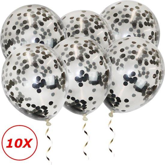 Zwarte Confetti Ballonnen Verjaardag Versiering Zwarte Helium Ballonnen Confetti Feest Versiering Halloween Papieren Confetti 10 Stuks