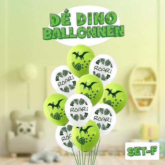 Dinosaurus ballonnen ! Set F | Verschillende dino ballonnen voor op een kinderfeestje of kinderkamer! | Ook leuk als speelgoed | Op te blazen met een rietje of met helium |