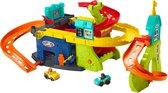 Fisher-Price Little People Zit en Sta Wheelies Garage - Racebaanset - Multikleur