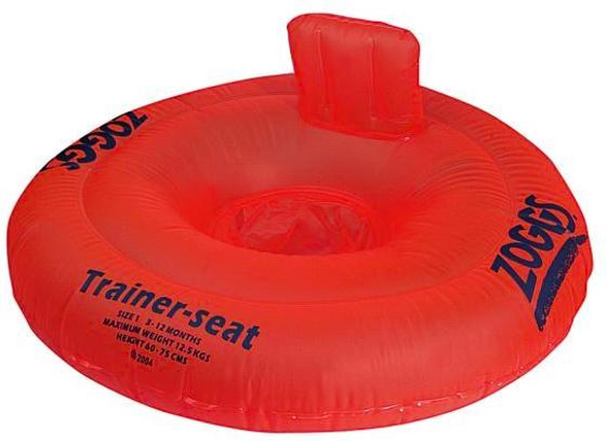 Zoggs - Trainer Seat - Zwemstoel - Babyzwemring - Opblaasbaar - Oranje - Maximum 11kg - Maat: 3 maanden tot 12 maanden