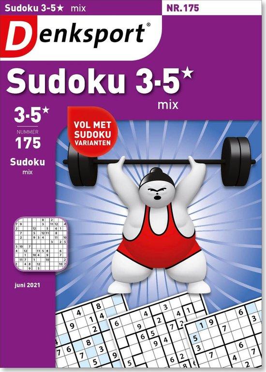 Afbeelding van Denksport puzzelboek Sudoku 3-5* mix editie 175