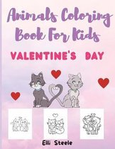 Animals Coloring Book For Kids Valentine's Day