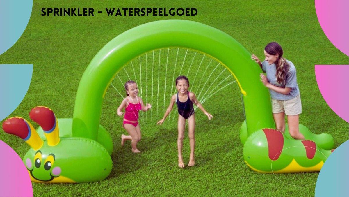 Bestway® Jumbo Water Sprinkler rups - Waterspeelgoed voor kinderen - Opblaasbaar - Speelgoed - Vanaf 2+jaar - Tuinslang - Waterpret - Buitenspelen - Buitenspeelgoed - Kindercadeau