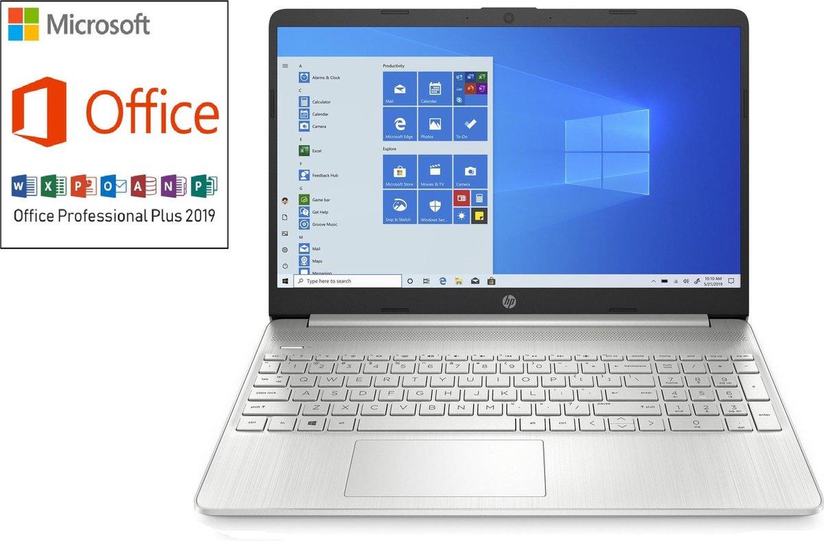 HP 15 inch laptop - Full HD - AMD Ryzen 3 - 8GB RAM - 256GB SSD - Windows 10 - Tijdelijk met GRATIS Office Professional (verloopt niet, geen abonnement) & BullGuard Antivirus t.w.v €60! (1 jaar, 3 apparaten)
