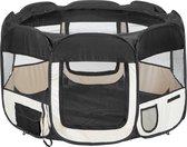 Dailyibed opvouwbare puppyren - Zwart - 75x75x43 cm - Incl. draagtas - Incl. voederbak