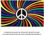 Regenboogvlag 150x90CM - LGBT QIA Pride Peace Vlag Groot - Regenboog Vlag - Peace Flag - Rainbow Flag - Regenboogvlag - Polyester
