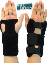AVE® Polsbrace voor Links en Rechts met Spalk – Zwart – Duim Brace - Pols Ondersteuning – Polssteun
