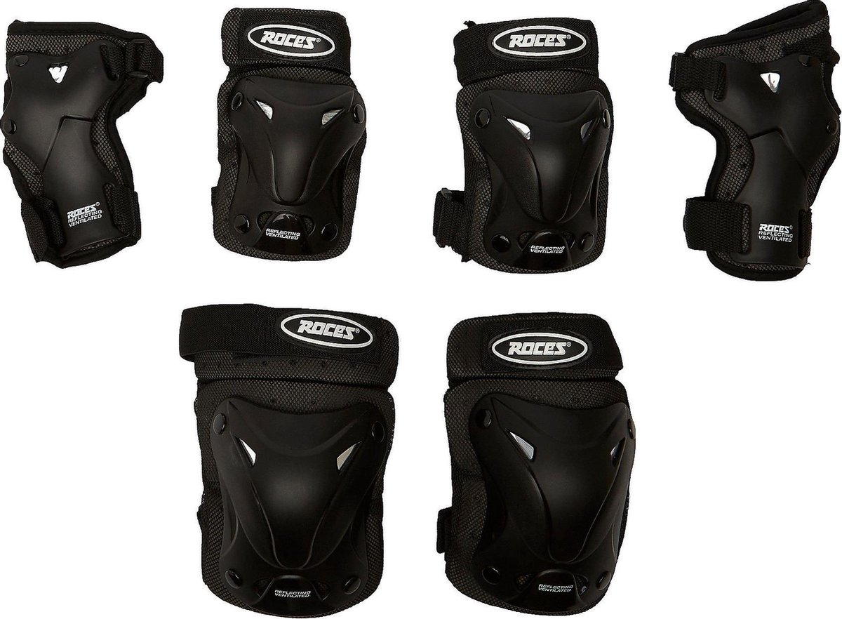 Roces Ventilated 3-Pack Skate Beschermingsset Zwart