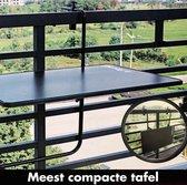 Balkontafel Inklapbaar – Zwart – Balkontafeltje - Balkontafels Opklapbaar  – Ophangbaar Voor aan het Balkon – Vouwtafel Wandtafel Inklapbare Tafel – Bijzettafel