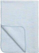 Meyco Uni wiegdeken - 75x100 cm - Lichtblauw