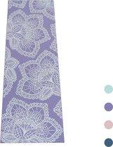 Love Generation Design Yoga Mat ●  Lotus Print ● Paars