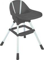Kinderstoel - Grijs - Babystoel - Peuterstoel - Kinderzetel -  Kinderzitje - Kinderbank - Kinderstoeltje voor kind - kinderstoeltje - Baby eetstoel -babystoel voor aan tafel -  Babystoel eetkamer