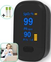 Curify® Medische Saturatiemeter   Als Beste getest   Zuurstofmeter inclusief Hartslagmeter   Vinger-Pulse Oximeter met PI Functie   Inclusief Batterijen