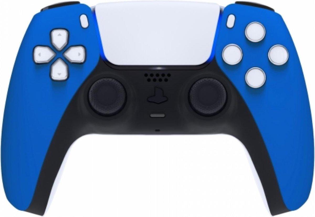 Sony PS5 DualSense Draadloze Controller – Blauw Soft Touch Front Custom