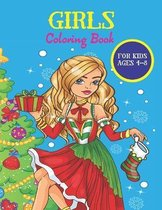 Girls Coloring Book For kids Ages 4-8