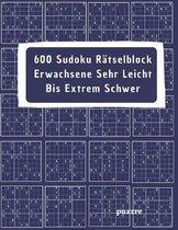 600 Sudoku Ratselblock Erwachsene Sehr Leicht Bis Extrem Schwer