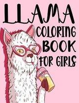 Llama Coloring Book For Girls