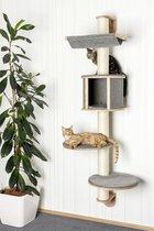 "Krabpaal muur Dolomit Tofana ""Grijs"" (168*75cm) - klimmuur kat - katten klim wand - kat muur"