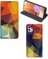 Smartphone Hoesje Samsung Galaxy A32 4G Leuk Book Case Polygon Color