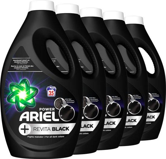 Ariel Vloeibaar Wasmiddel + Revitablack - Voordeelverpakking - Zwart Was - 5x35 Wasbeurten