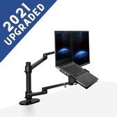 W&Z Monitor arm voor laptop scherm – Monitor beugel geschikt voor 2 schermen – Monitor Standaard – Laptop Standaard – Verstelbaar– Laptop Arm - Zwart