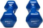 Specifit Dumbells 2 x 2 kg Gietijzer / Vinyl Coating
