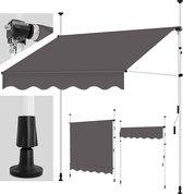Sens Design Zonneluifel - zonnescherm tuin - zonder boren - grijs - 300cm