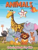 Animals Coloring book for Kids Age 4-8