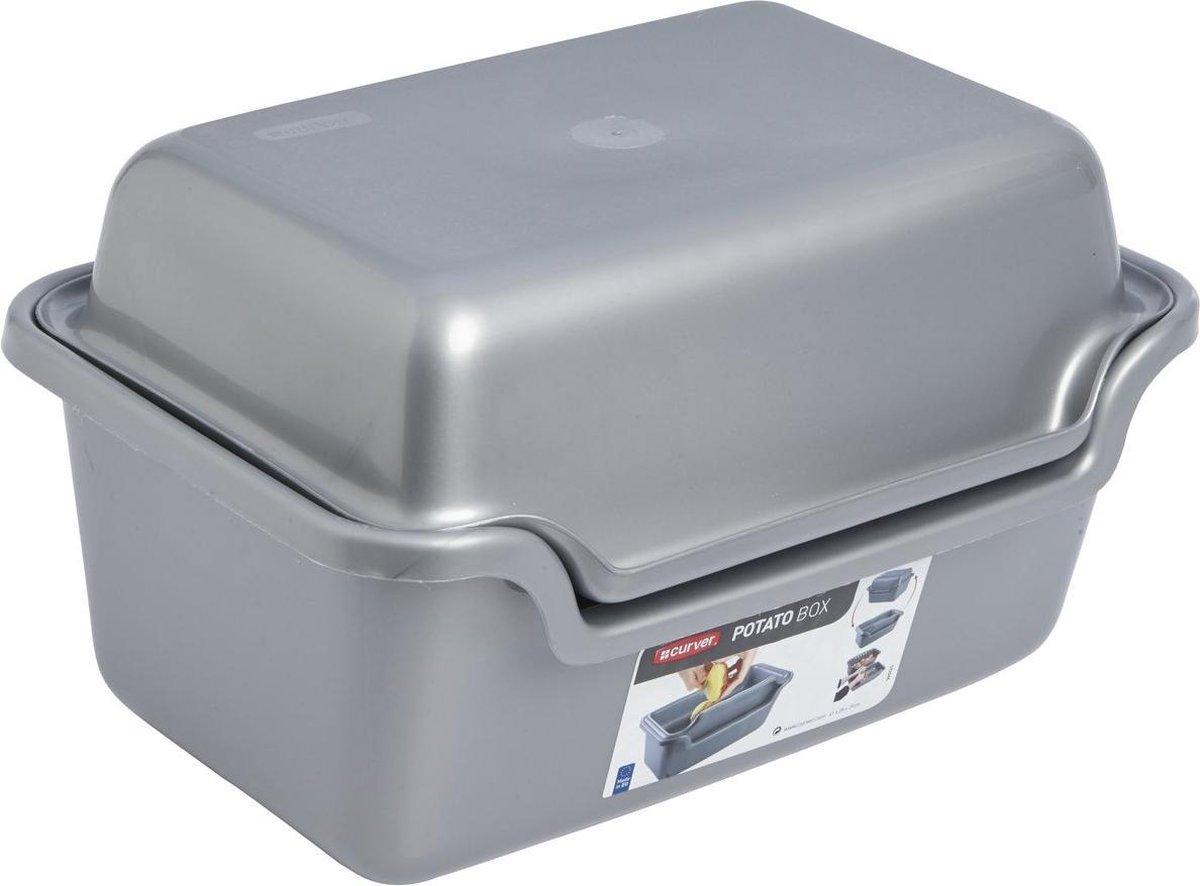 Curver Aardappelschilbox - 20 l - Kunststof - Grijs