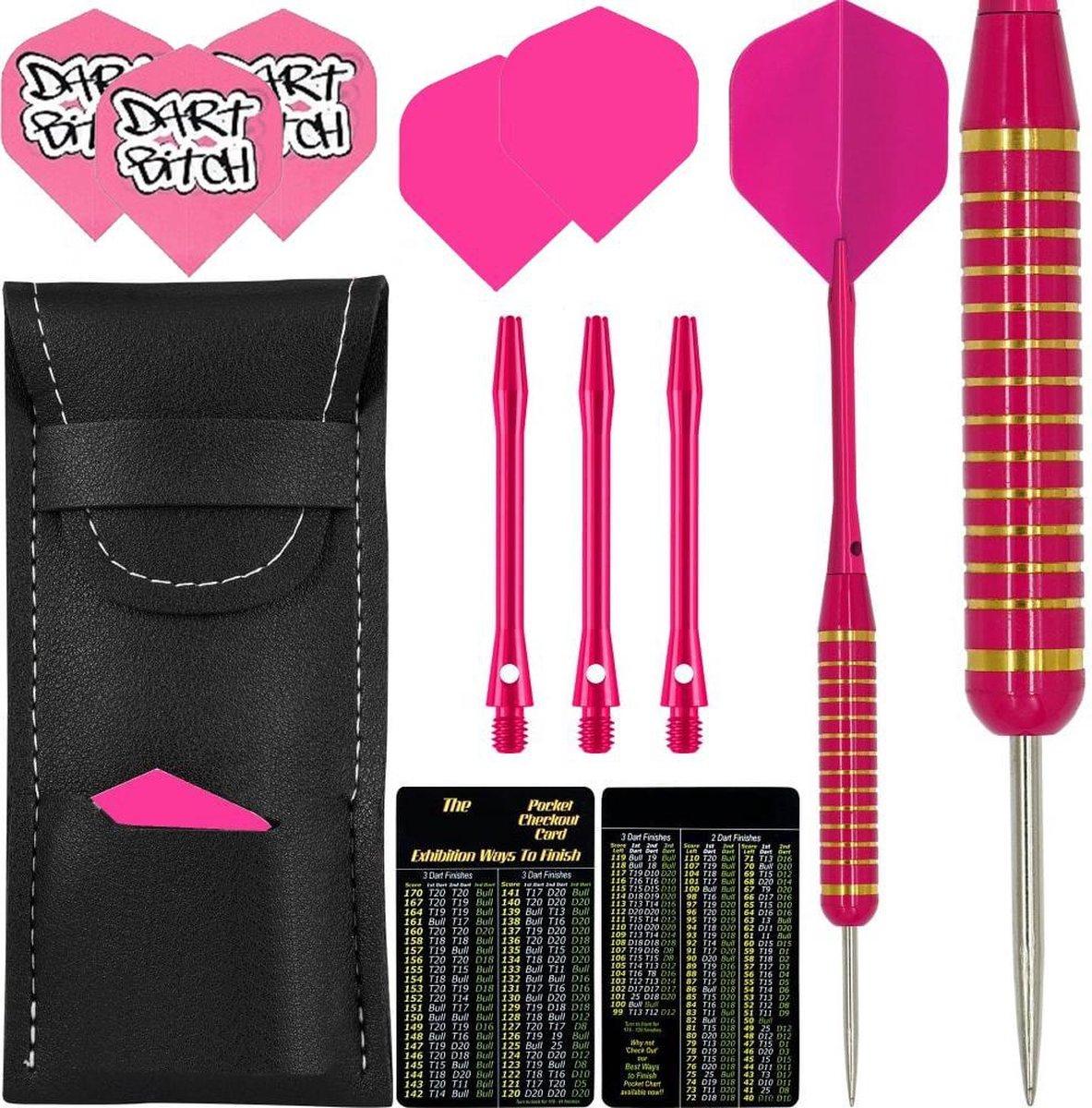Dragon Darts Pink Lady - dartpijlen - dart shafts - dart flights - dartpijlen 21 gram - dartpijlen roze