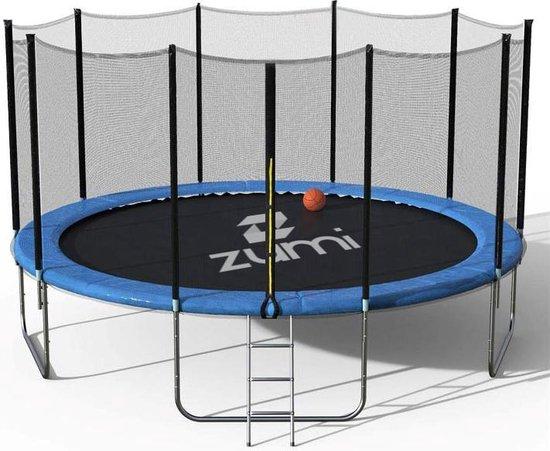Zumi - Trampoline - Ø 244cm - Trampoline met veiligheidsnet - Hoogte 67 cm - Incl. trap - Weerbestendig - PVC rand