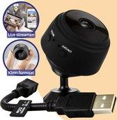 TechGenics Spy Camera - Beveiligingscamera Binnen - Verborgen Camera - Mini Camera Spy WiFi met App - 1080P HD - WiFi Camera Binnen Draadloos – Magnetische Montage - Live Streamen - Incl. 32GB Micro SD