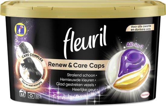 Fleuril Black Caps - Wasmiddel Capsules - Voordeelverpakking - 8 x 12 wasbeurten