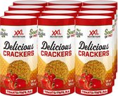 XXL Nutrition Delicious Crackers Tomaat / Paprika Tray 12 x 13 crackers