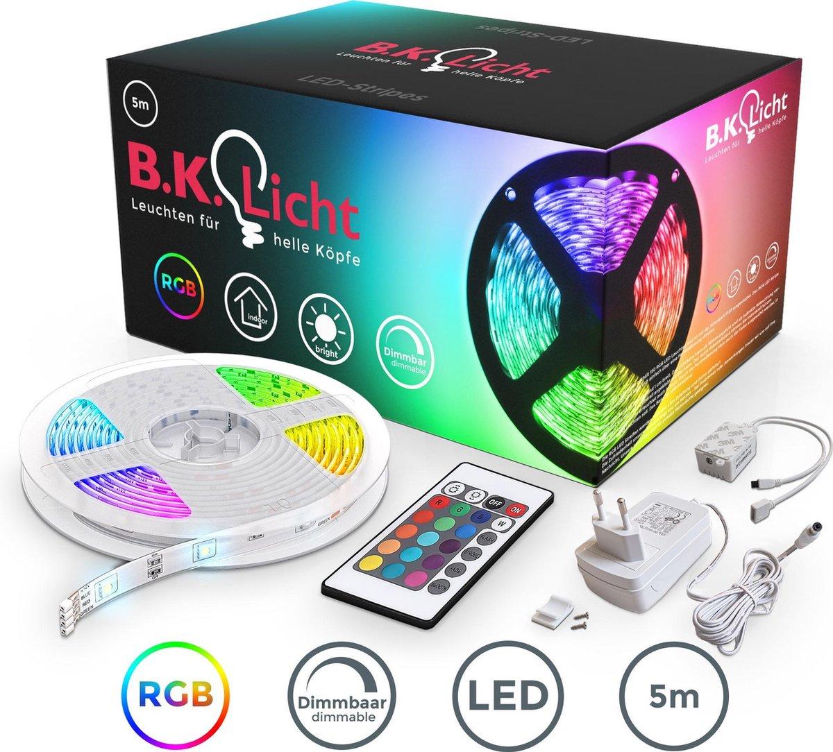 LED strip - 5 meter - RGB - met afstandsbediening - zelfklevend