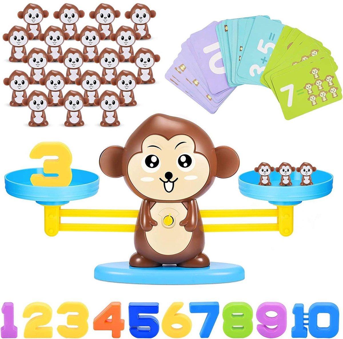 Educatief Speelgoed - Leerzaam voor kinderen - balans aapjes om te spelen en rekenen (Balance Monkey game) - speelgoed voor jonge kinderen