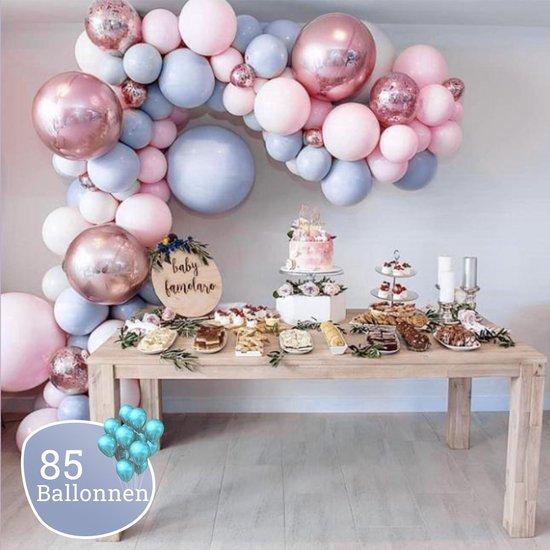 Sellaio Ballonnenboog – Ballonnen verjaardag – Versiering- Babyshower – Verjaardag – Inclusief strip en pomp – Complete set – 85 ballonnen