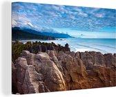 Uitzicht over het Nationaal park Rakiura in Oceanië Canvas 30x20 cm - klein - Foto print op Canvas schilderij (Wanddecoratie woonkamer / slaapkamer)