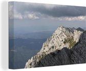 Massieve bergtoppen in het Nationaal park Piatra Craiului in Roemenië Canvas 60x40 cm - Foto print op Canvas schilderij (Wanddecoratie woonkamer / slaapkamer)