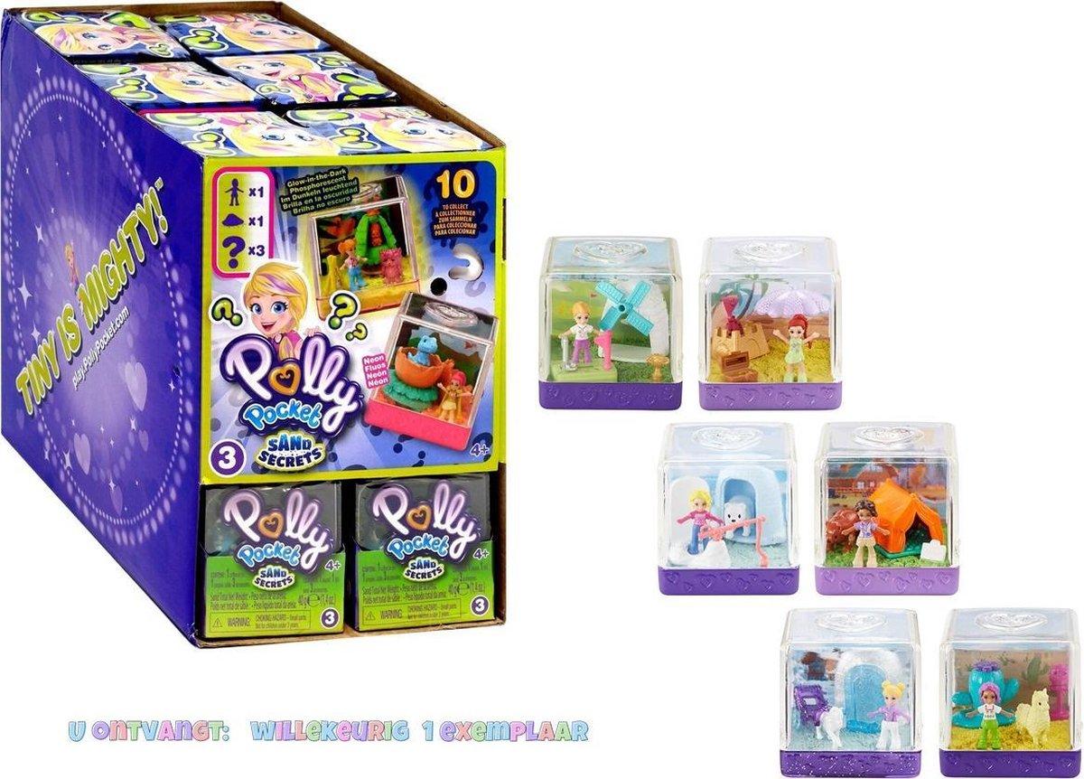 Polly Pocket Sand Secrets - Poppetje met accessoires - Magisch zand - 1 exemplaar