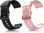 Smartwatch-Trends S205L – Vervanging Horlogeband –  Siliconen bandje - Roze en Zwart