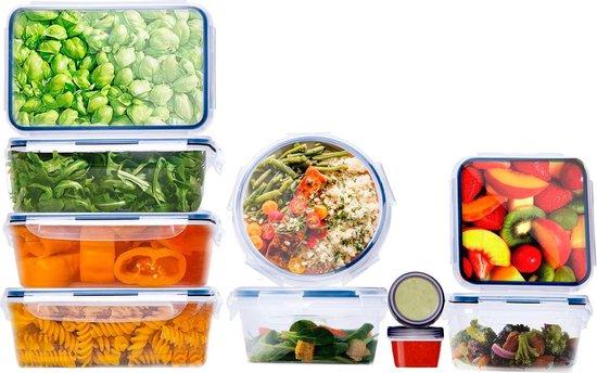 Bangosa Meal Prep Bakjes - Vershoudbakjes - Lunchbox - Diepvriesbakjes - Vershouddoos - Vershoudbakjes Set - Plastic Bakjes - Voedselcontainer - Magnetron Bakjes Met Deksel 10 stuks