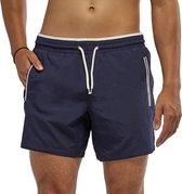 Coral Beachwear The Deep - zwembroek - ritszakken - mannen - donkerblauw - 100% Taslan - sneldrogend